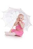 Kind mit Regenschirm Lizenzfreies Stockbild