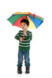 Kind mit Regenschirm Stockbilder