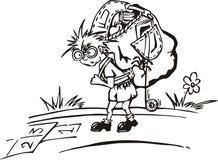 Kind mit Rucksack Lizenzfreies Stockbild