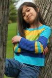 Kind mit schwierigem Ausdruck Stockbild