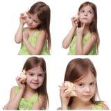 Kind mit Seeoberteil Lizenzfreie Stockfotos
