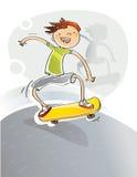 Kind mit Skateboard Lizenzfreies Stockfoto