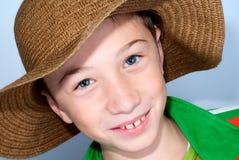 Kind mit starws Hut Lizenzfreies Stockbild