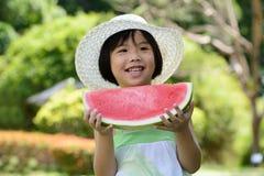 Kind mit Wassermelone Lizenzfreies Stockfoto
