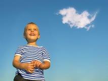 Kind mit Wolke Lizenzfreie Stockfotografie