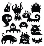 Kind monsters. Set of kind little monsters Royalty Free Stock Images