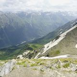 Kind from mountain top. Royalty Free Stock Image