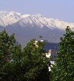 Kind on mountains. From Almaty stock photography
