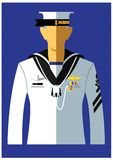 A kind of navy uniform. A naval rating or naval rate is a naval term that can have several closely related meanings depending on the context and country it is royalty free illustration