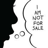 Kind nicht für Verkaufsschattenbildillustration stockbild