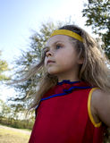 Kind oben gekleidet wie ein Superheld Lizenzfreies Stockbild