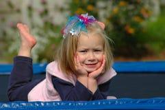Kind ohne Sorgen lizenzfreies stockbild