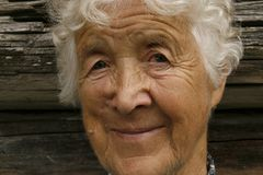 Kind old woman Stock Images