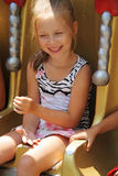Kind op Carnaval-Rit Stock Foto