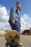 Kind op skateboard Royalty-vrije Stock Afbeelding
