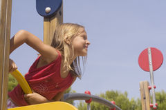 Kind op speelplaats Stock Fotografie
