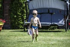 Kind op vakantie Stock Foto