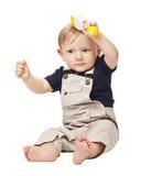 Kind op wit Stock Fotografie