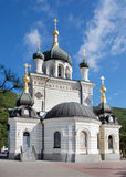 Kind on an orthodox temple. Foros Church of the Resurrection in the Crimea stock photos