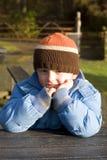 Kind in park royalty-vrije stock fotografie