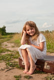 Kind in platteland Stock Foto's