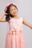 Kind in Prinzessin Dress, auf Weiß Stockbild