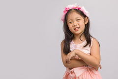 Kind in Prinzessin Dress, auf Weiß Lizenzfreies Stockbild