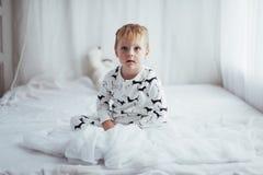 Kind in pyjama Royalty-vrije Stock Afbeelding