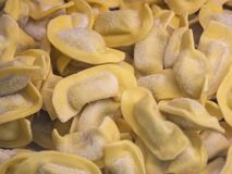 A kind of ravioli, casoncelli, home made traditional food of the Bergamo area, Italy. A kind of ravioli, casoncelli, home made traditional food of the Bergamo royalty free stock photography