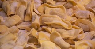 A kind of ravioli, casoncelli, traditional food of the Bergamo area, Italy. A kind of ravioli, casoncelli, traditional food of the Bergamo area, Lombardy, Italy royalty free stock photo