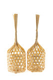 Kind of round bamboo basket Royalty Free Stock Images