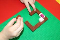Kind-` s bunter Designer und ein Platz, zum es zu spielen Stockbilder