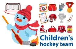 Kind-` s Hockey-Team Lizenzfreie Stockfotografie