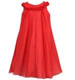 Kind-` s Kleid lokalisiert auf weißem Hintergrund Lizenzfreie Stockbilder