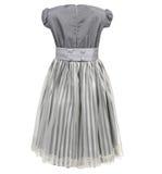 Kind-` s Kleid lokalisiert auf weißem Hintergrund stockbild