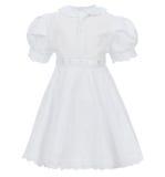Kind-` s Kleid lokalisiert auf weißem Hintergrund lizenzfreies stockbild