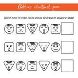 Kind-` s Lernspiel - Gesichter Stockbilder
