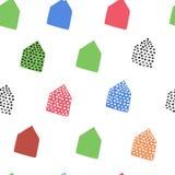 Kind-` s Muster von farbigen geometrischen Formen verwendet im Design Stockfotografie