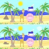 Kind-` s Spielpuzzlespiel-Entdeckungsunterschiede, Stockfoto