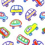 Kind-` s Zeichnung von Autos vektor abbildung