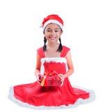 Kind in Sankt-Hut lizenzfreie stockbilder