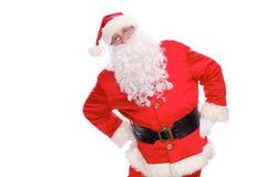 Kind Santa Claus, isolated on white background.  Stock Photos