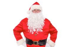 Kind Santa Claus, isolated on white background Royalty Free Stock Photos