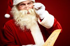 Kind Santa Claus royalty free stock photo
