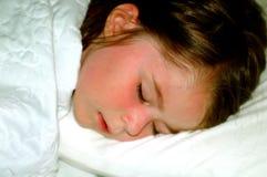 Kind-Schlafendes Mädchen Stockfotografie