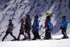 Kind-Skifahrer. Lizenzfreies Stockfoto