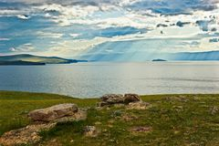 The small sea of lake Baikal Royalty Free Stock Photos