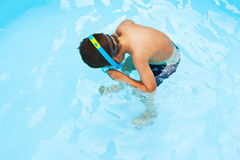 Kind snorkeler Stock Foto