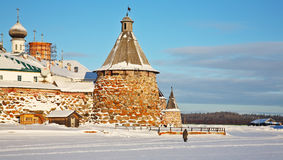 Kind on the Solovetsky monastery. Stock Images