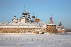 Kind on the Solovetsky monastery Stock Images